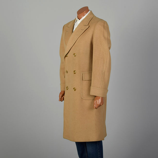 Medium 1970s Men's Tan Camel Hair Coat
