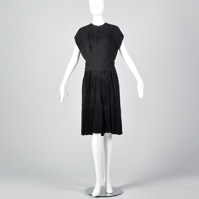 Medium Galanos 1960s Silk Pleated Dress
