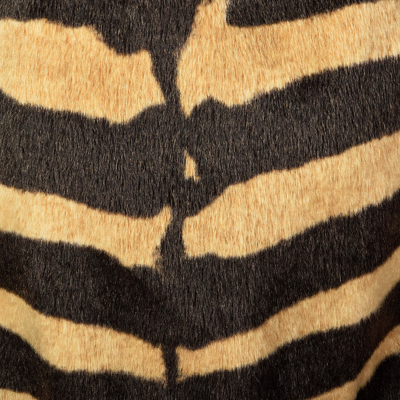Incredible Mongolian Lamb and Faux Zebra Coat with Dramatic Collar