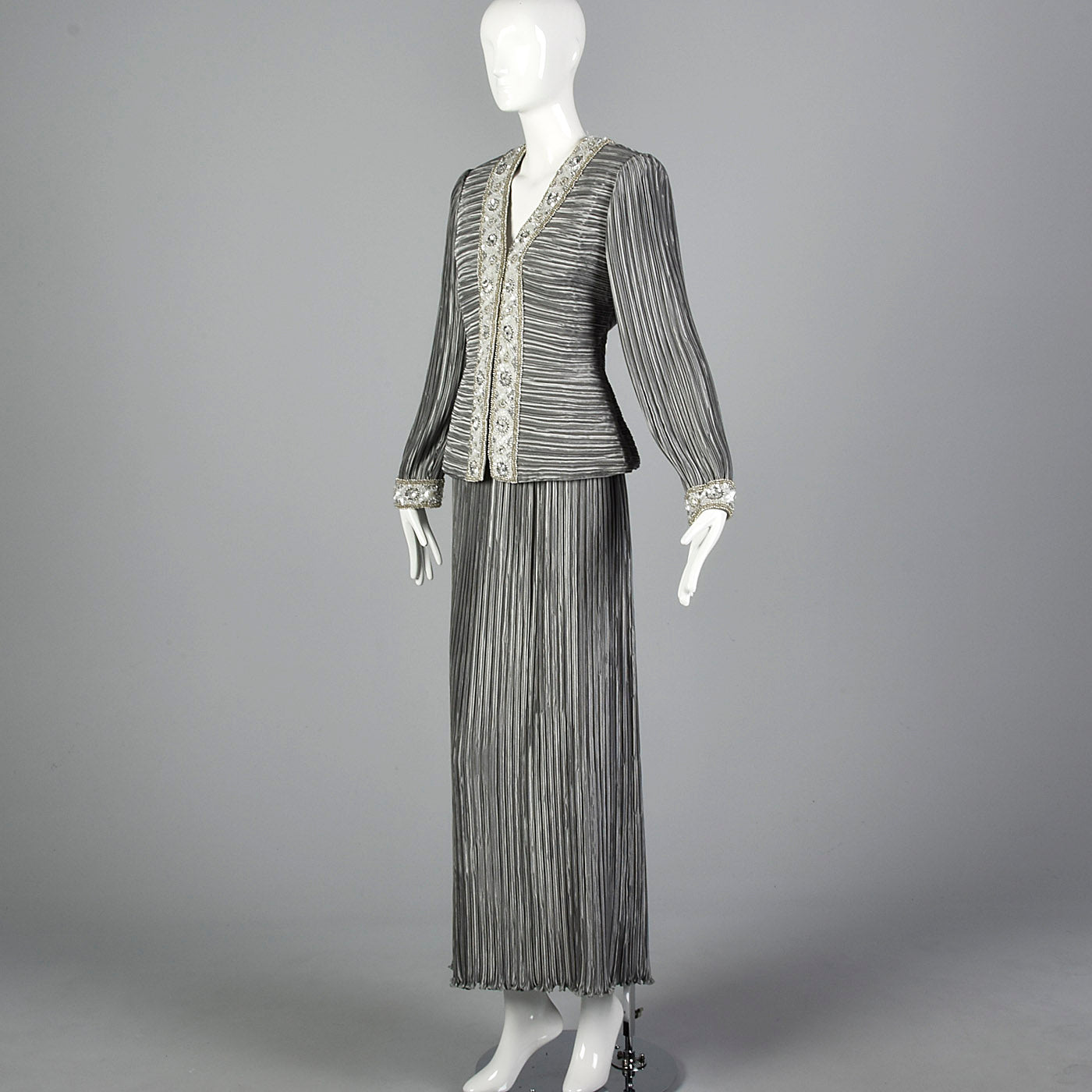 1980s Lillie Rubin Two Piece Cocktail Ensemble