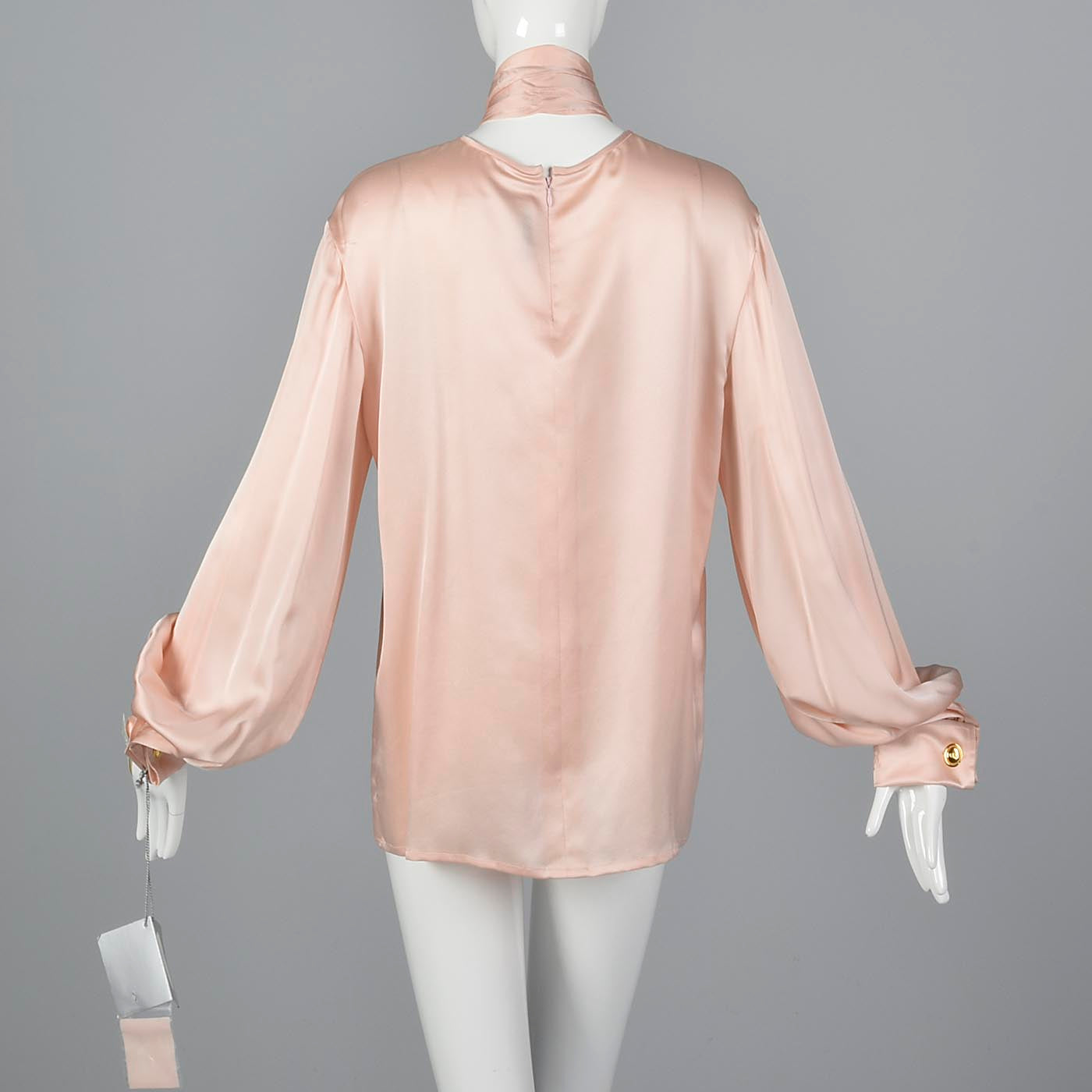 Christian Dior Boutique Numbered Pink Silk Blouse