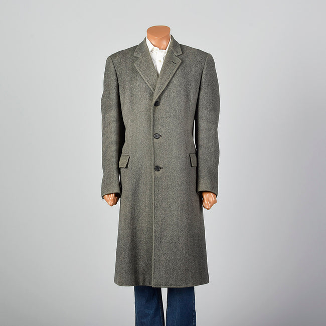 1960s Burberrys Gray Wool Overcoat