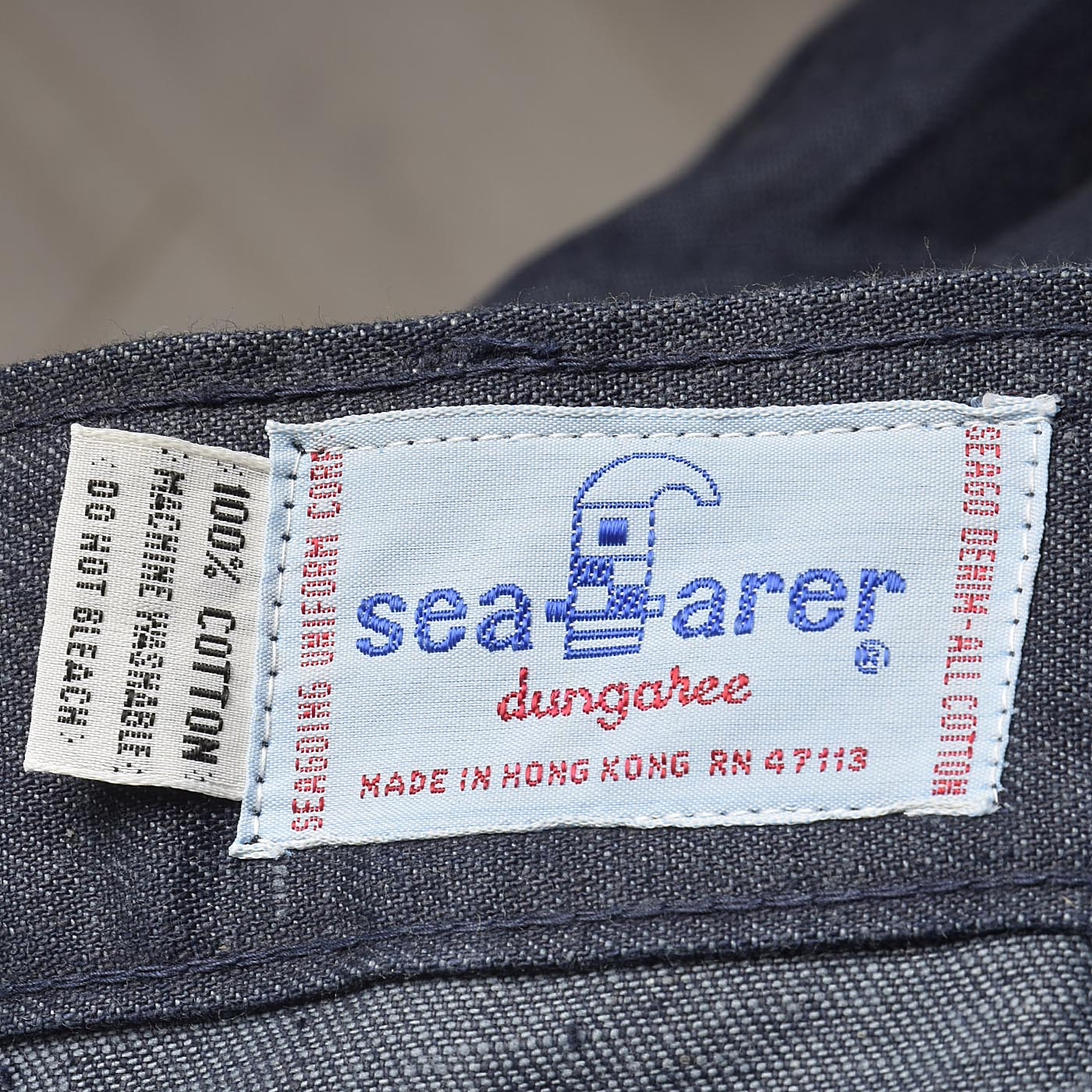 30x34 Deadstock 1970s Seafarer High Waist Bellbottom Jeans Indigo Denim