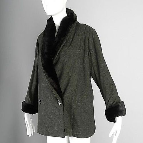 1950s Christian Dior Fur Lined Winter Jacket