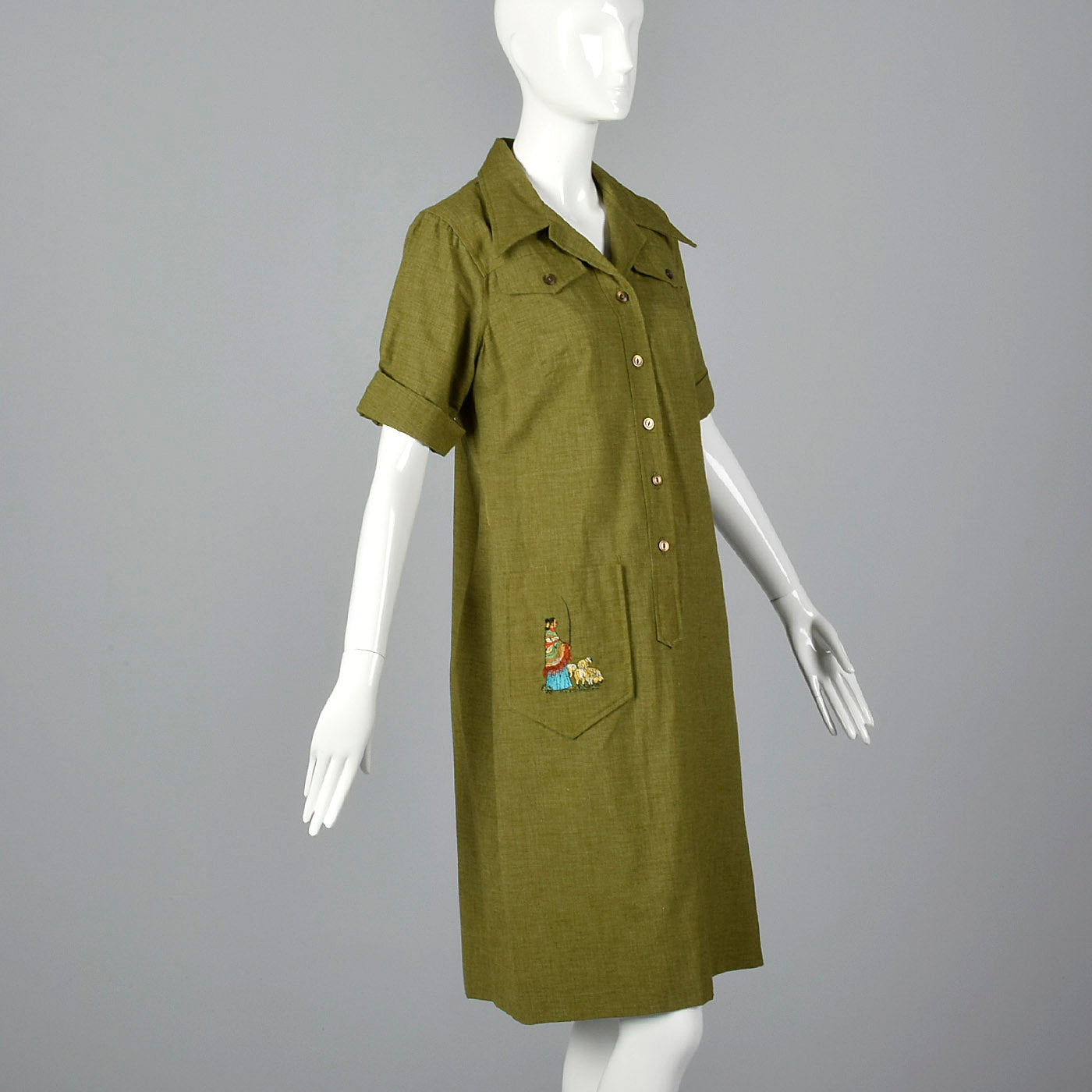 1960s Deadstock Novelty Sheepherder Dress