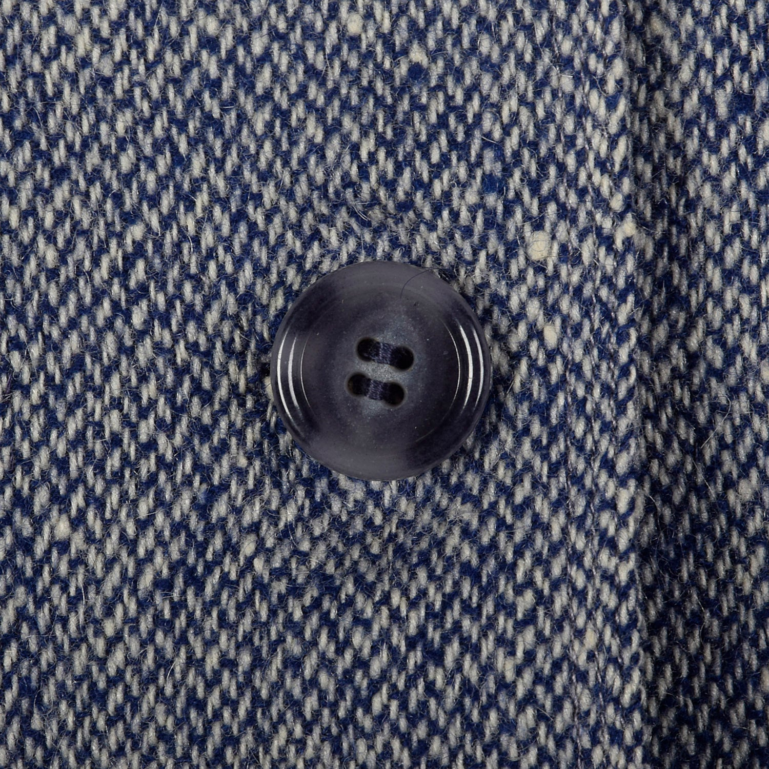 1960s Blue and White Wool Tweed Skirt Suit