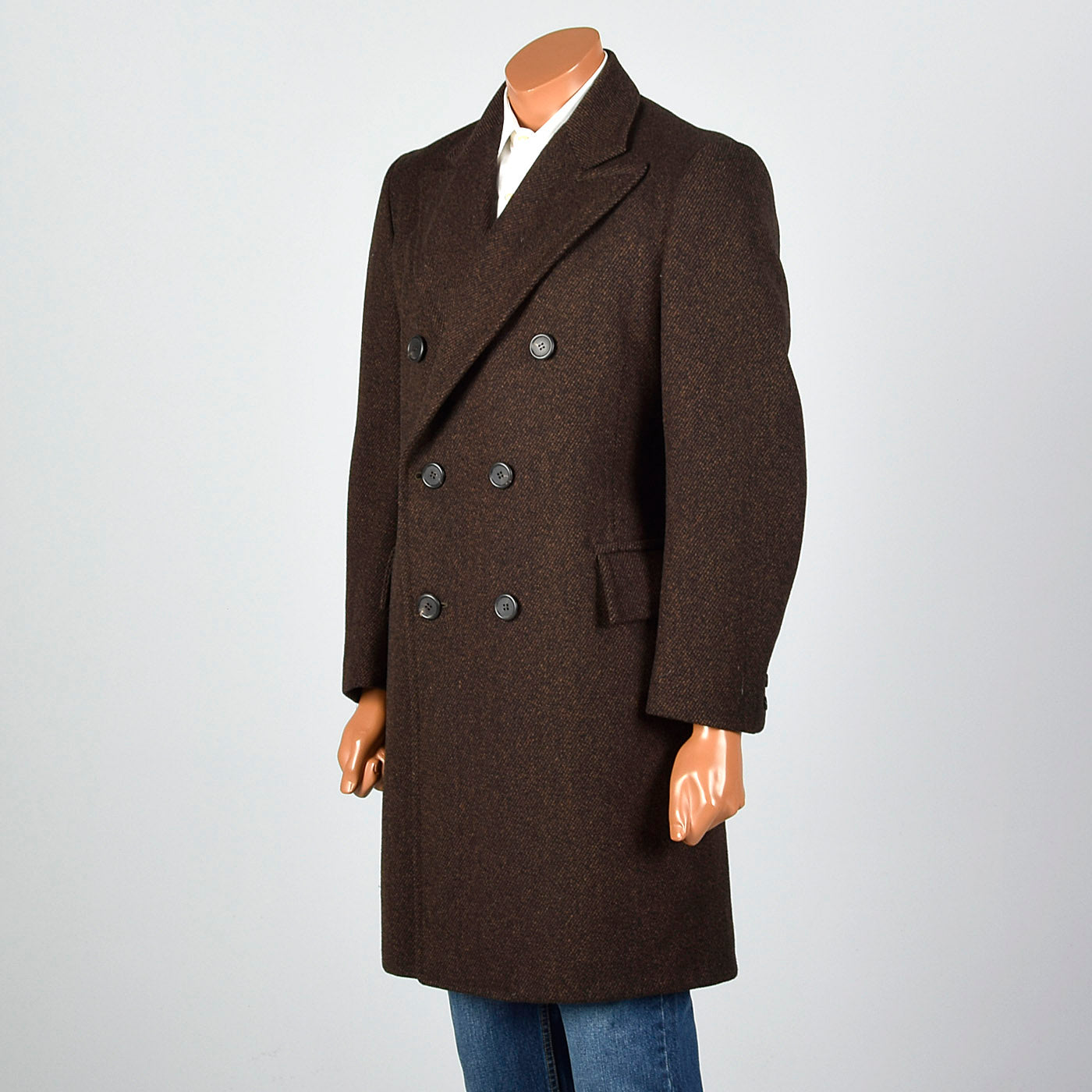 1970s Brown Double Breasted Coat