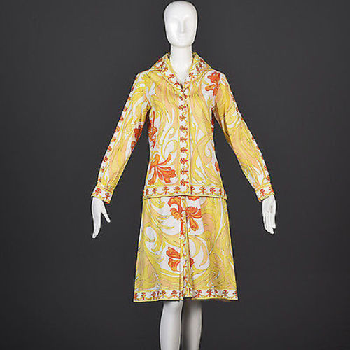 1960s Emilio Pucci Cotton Skirt and Tunic Set