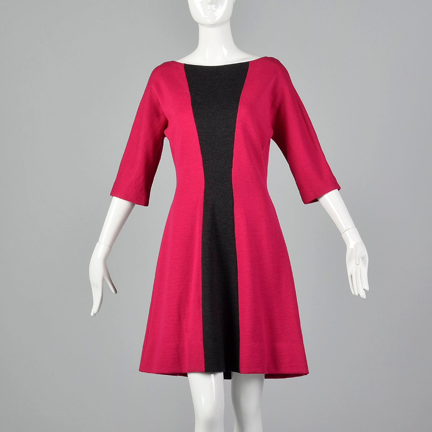 1960s Goldworm Two Tone Wool Knit Dress