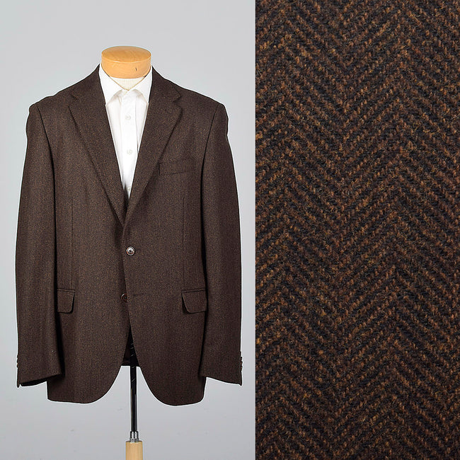 2000s Mens Cashmere Blend Jacket in Brown