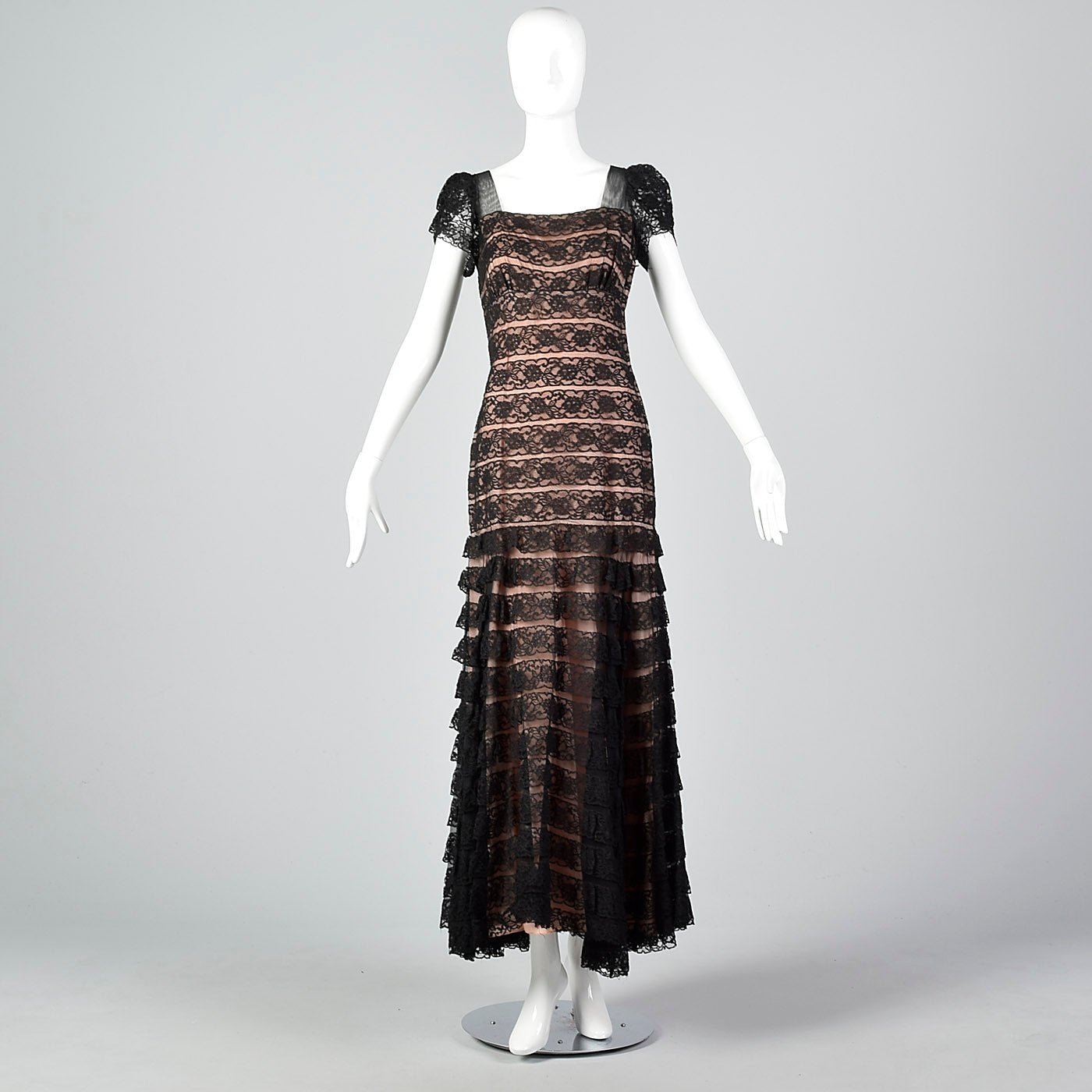 1940s Black Lace Mermaid Dress – Style & Salvage