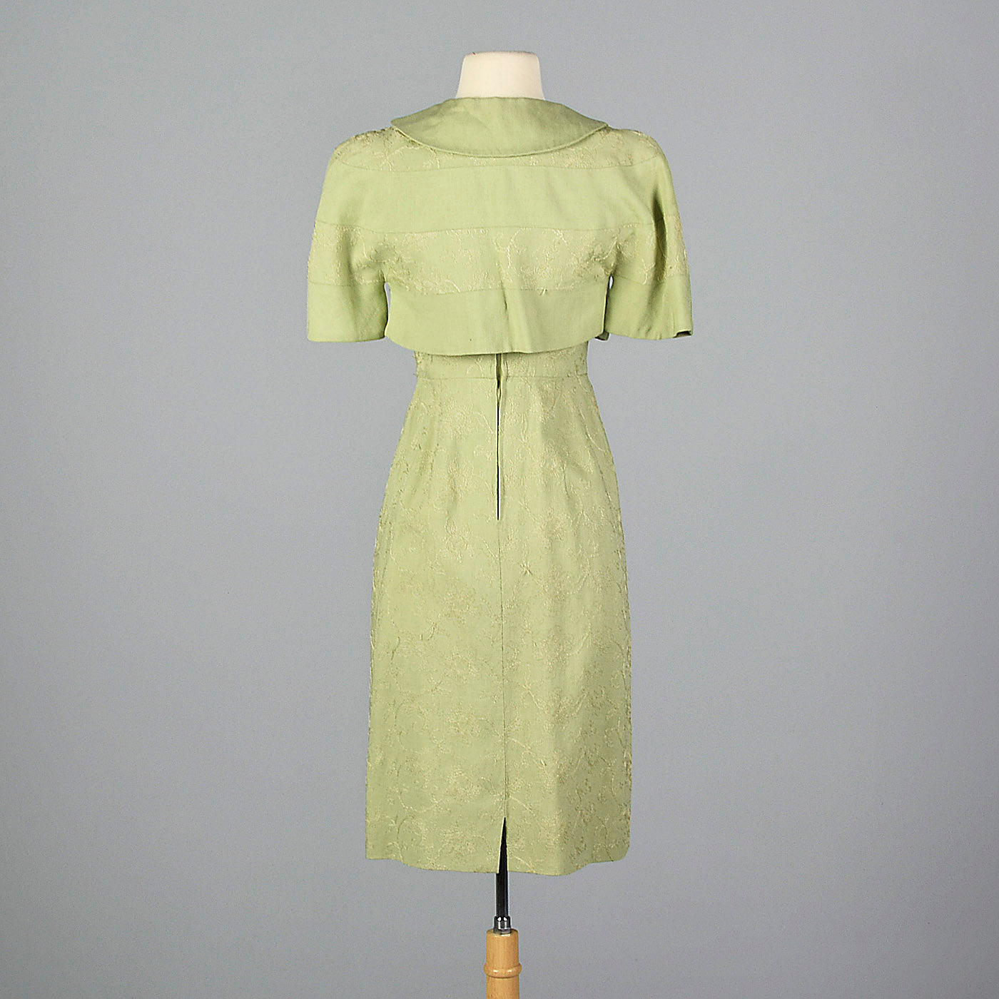 1950s Green Dress with Matching Jacket