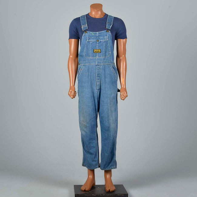1940s Mens Washington Dee Cee Denim Overalls