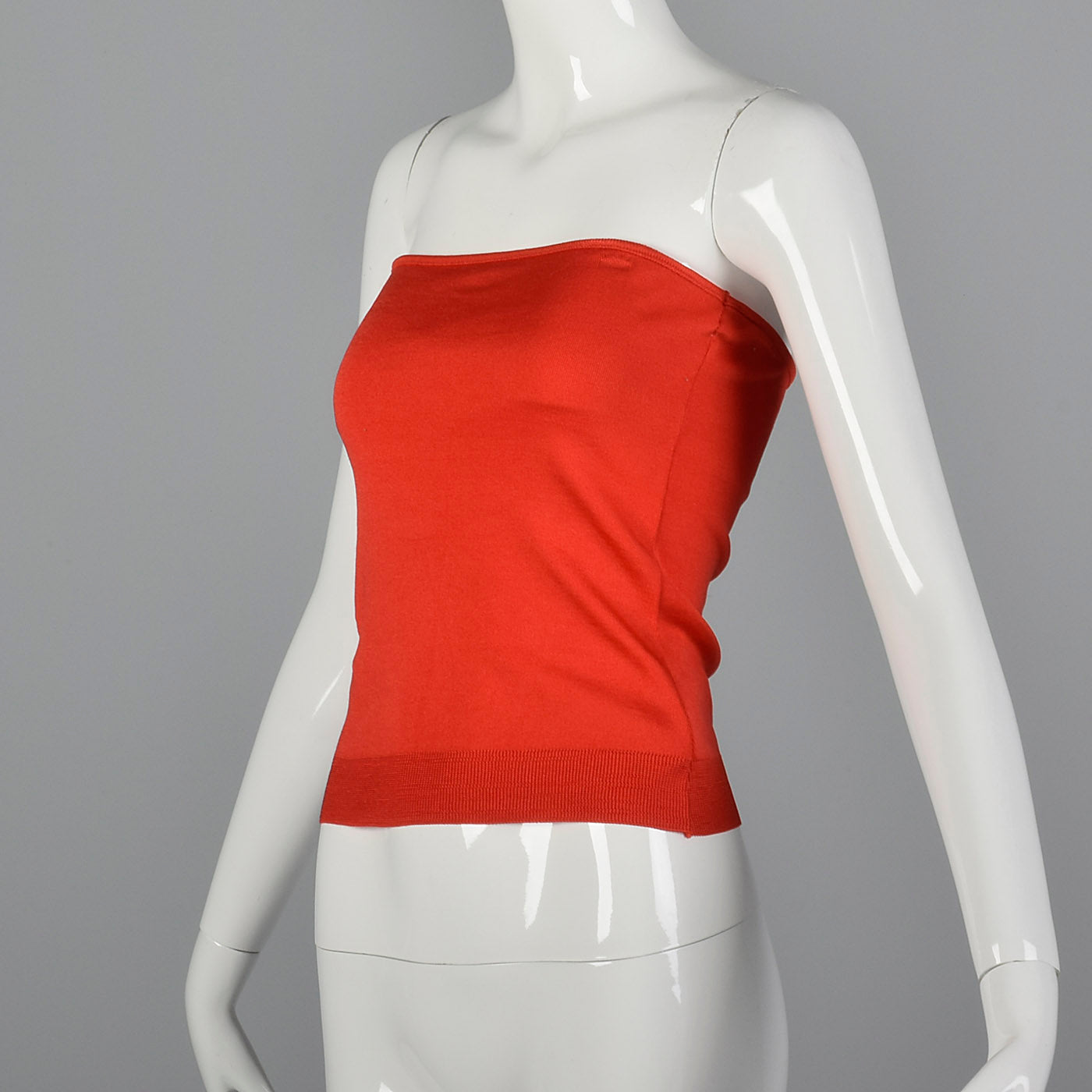1970s Bill Haire Shiny Red Tube Top
