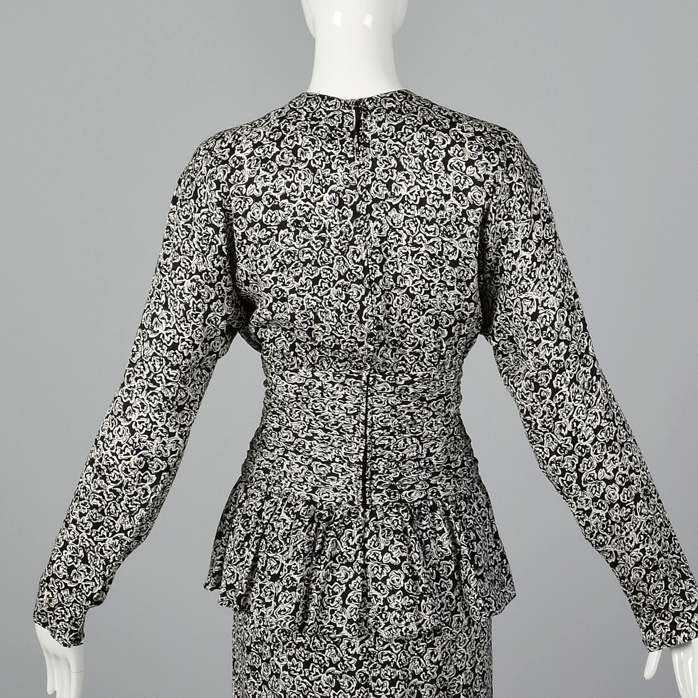 1980s Christian Dior Black and White Dress