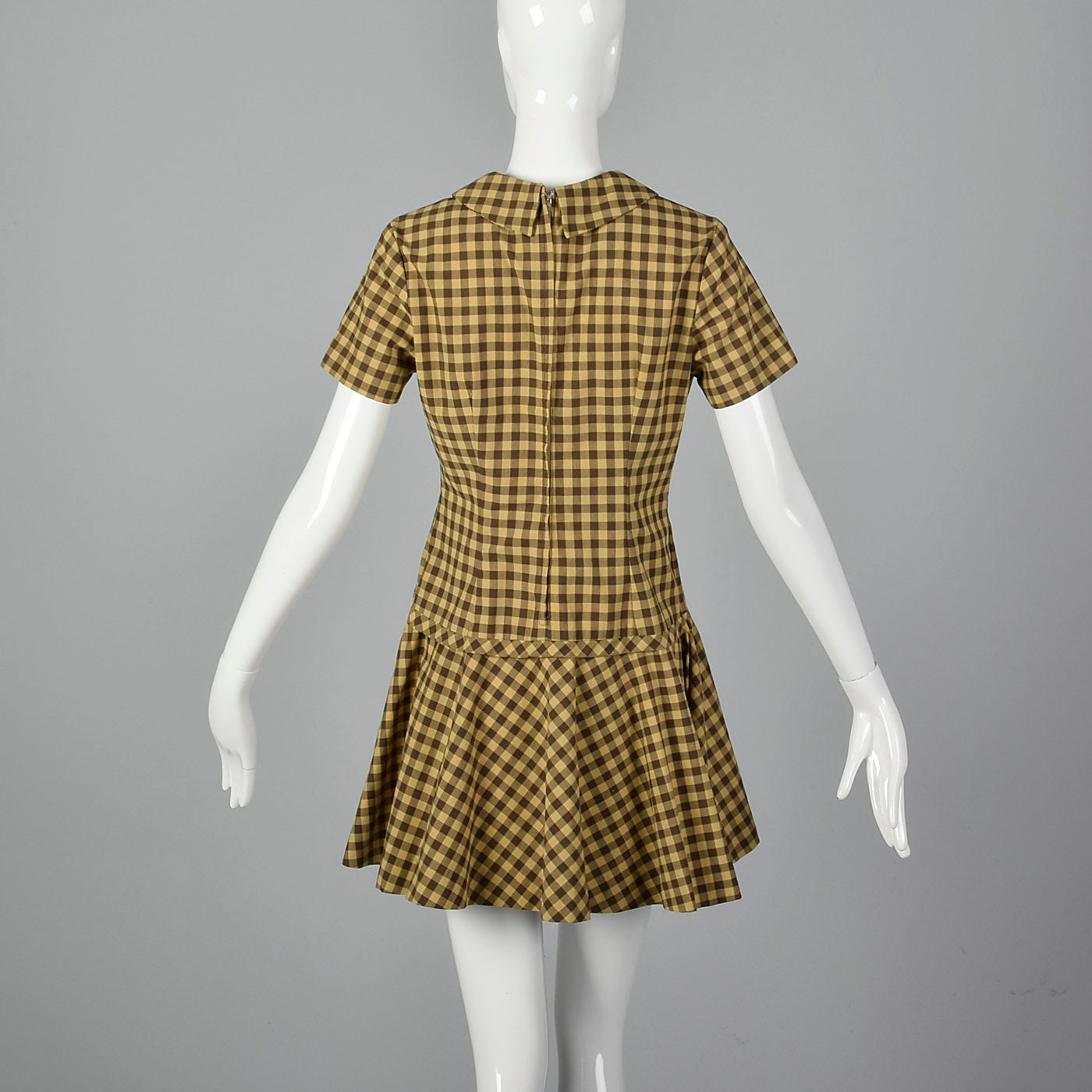 1960s Gingham Mini Dress