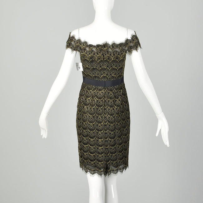 Little black dress with Battenberg lace and a touch of scandal