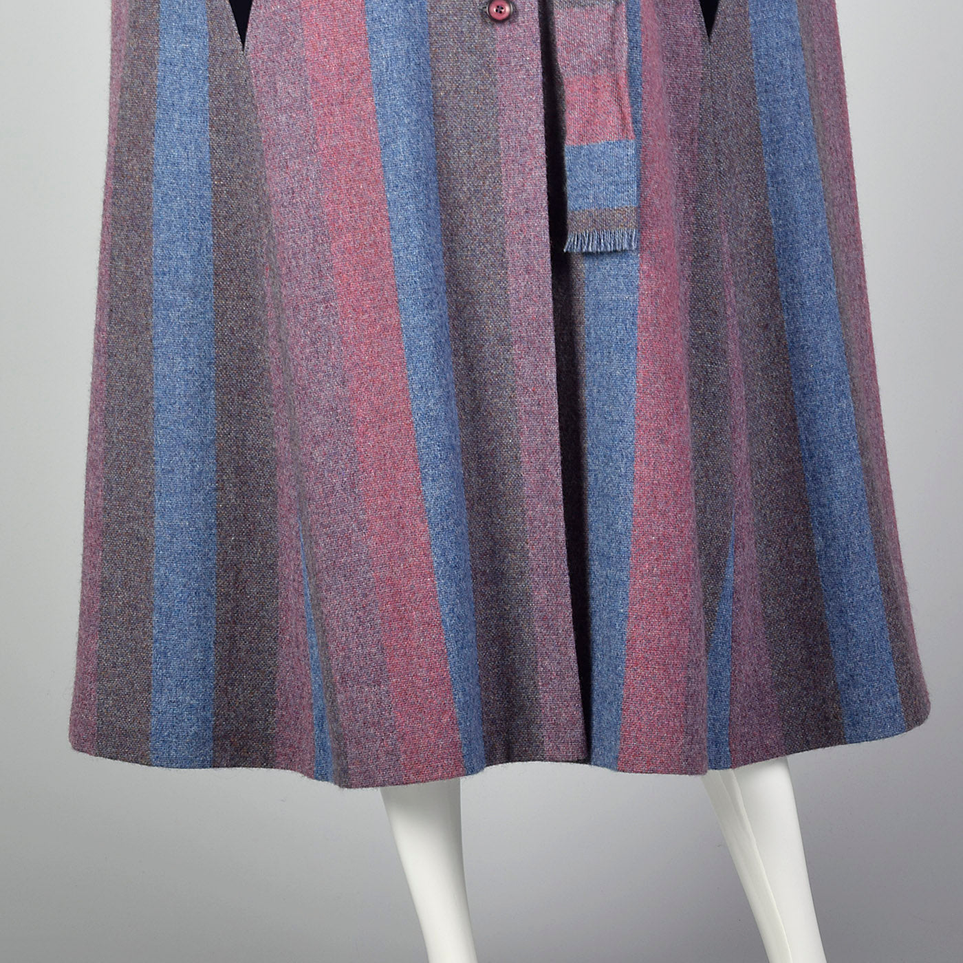 1970s Wool Cape with Attached Scarf