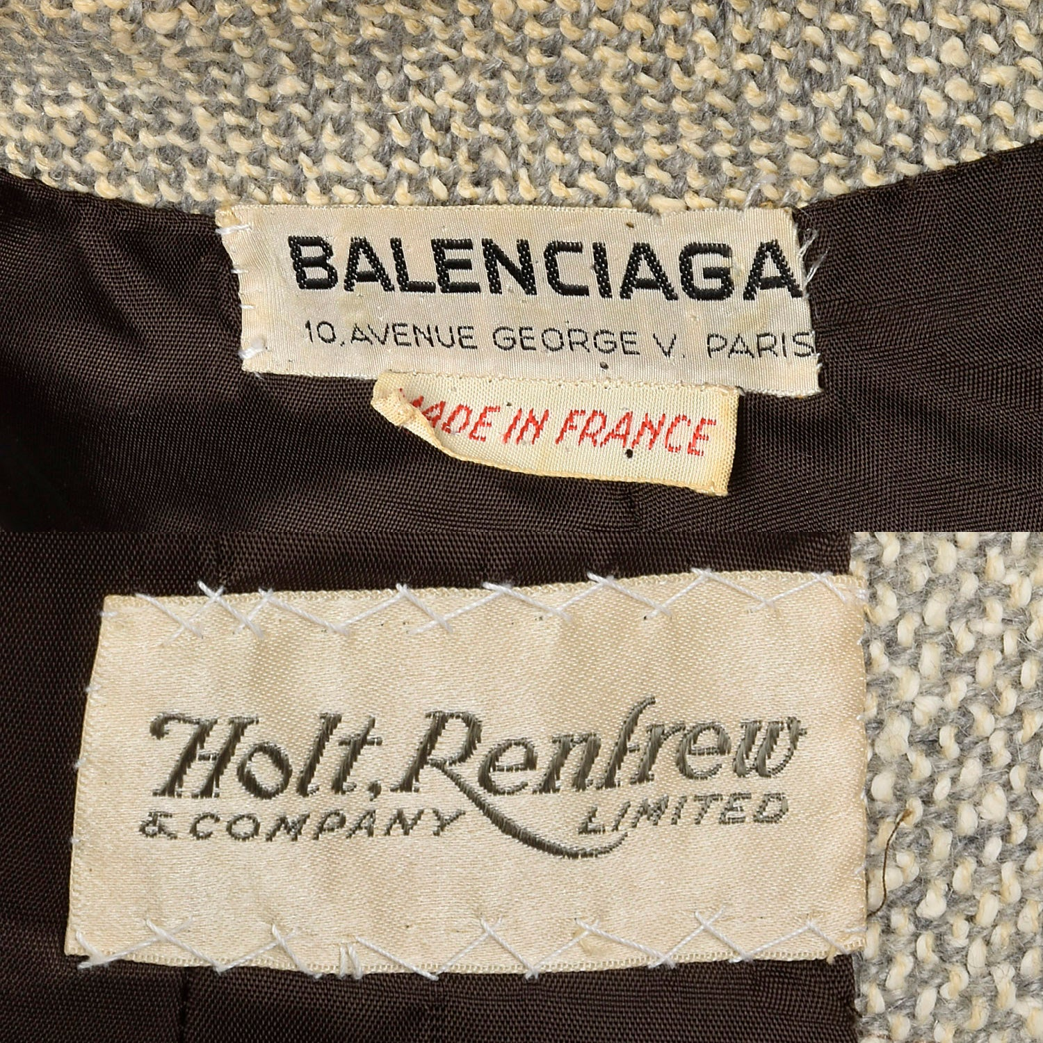 Large Balenciaga Numbered Couture Tan Jacket