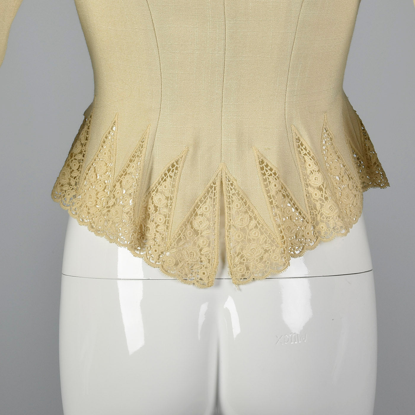 1950s Linen and Lace Jacket