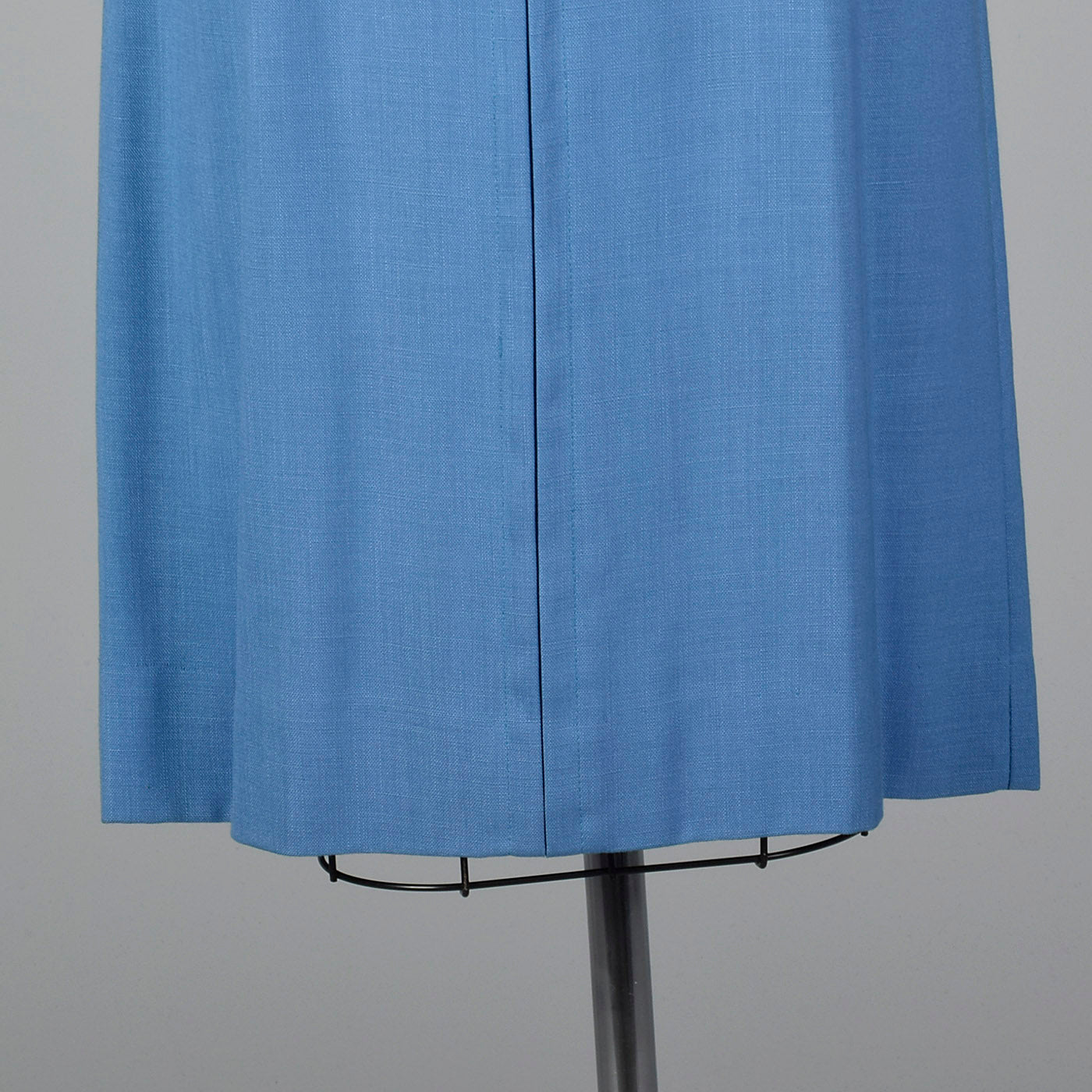 1950s Blue Rayon Day Dress