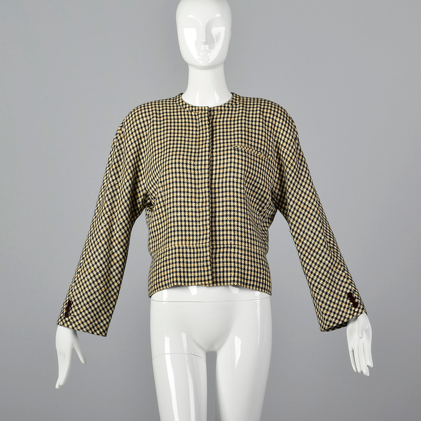 1980s Armani Black and Cream Jacket