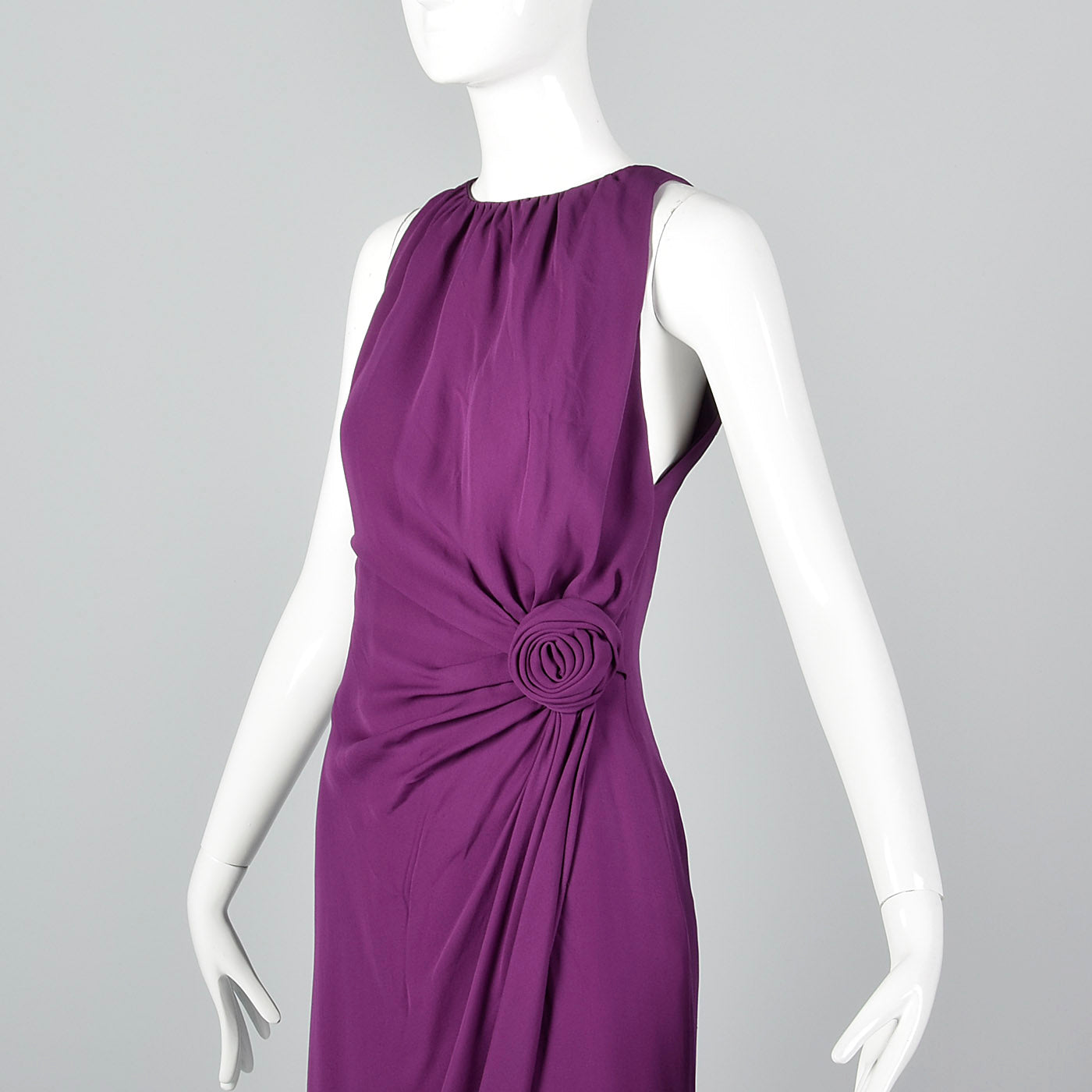 1990s Moschino Purple Silk Dress