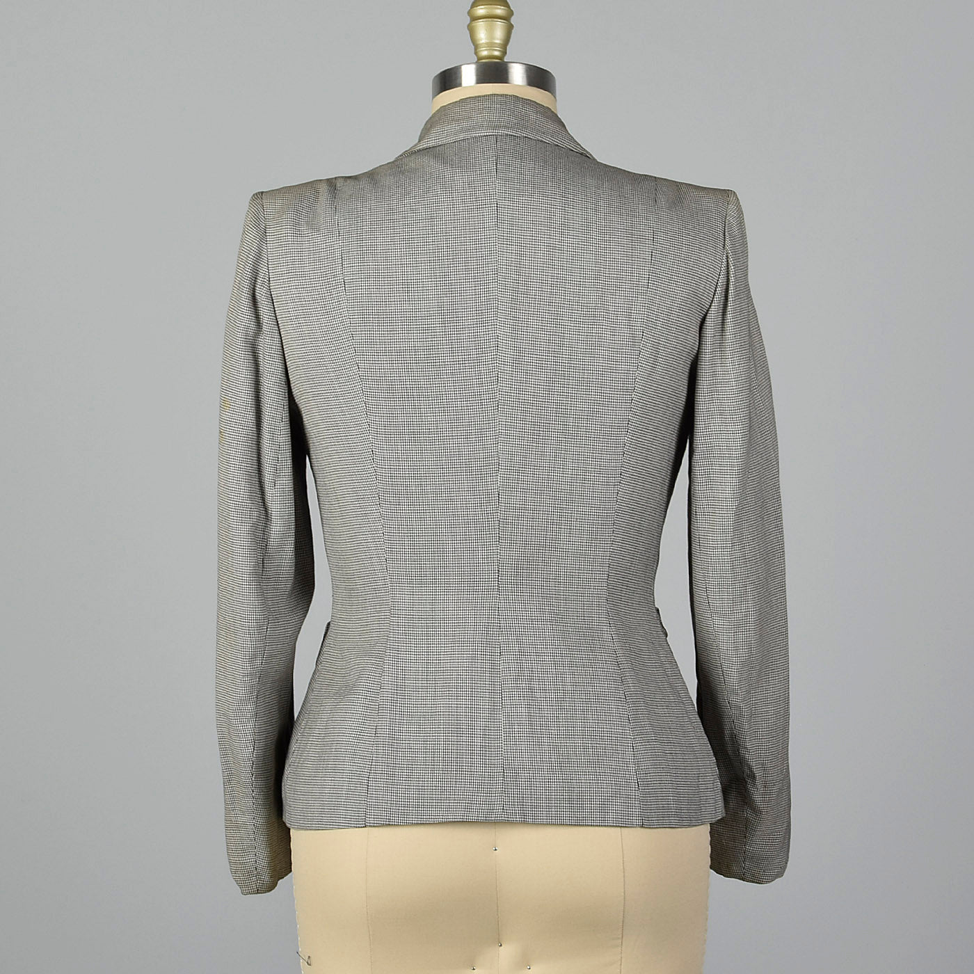 1950s Black and White Houndstooth Jacket