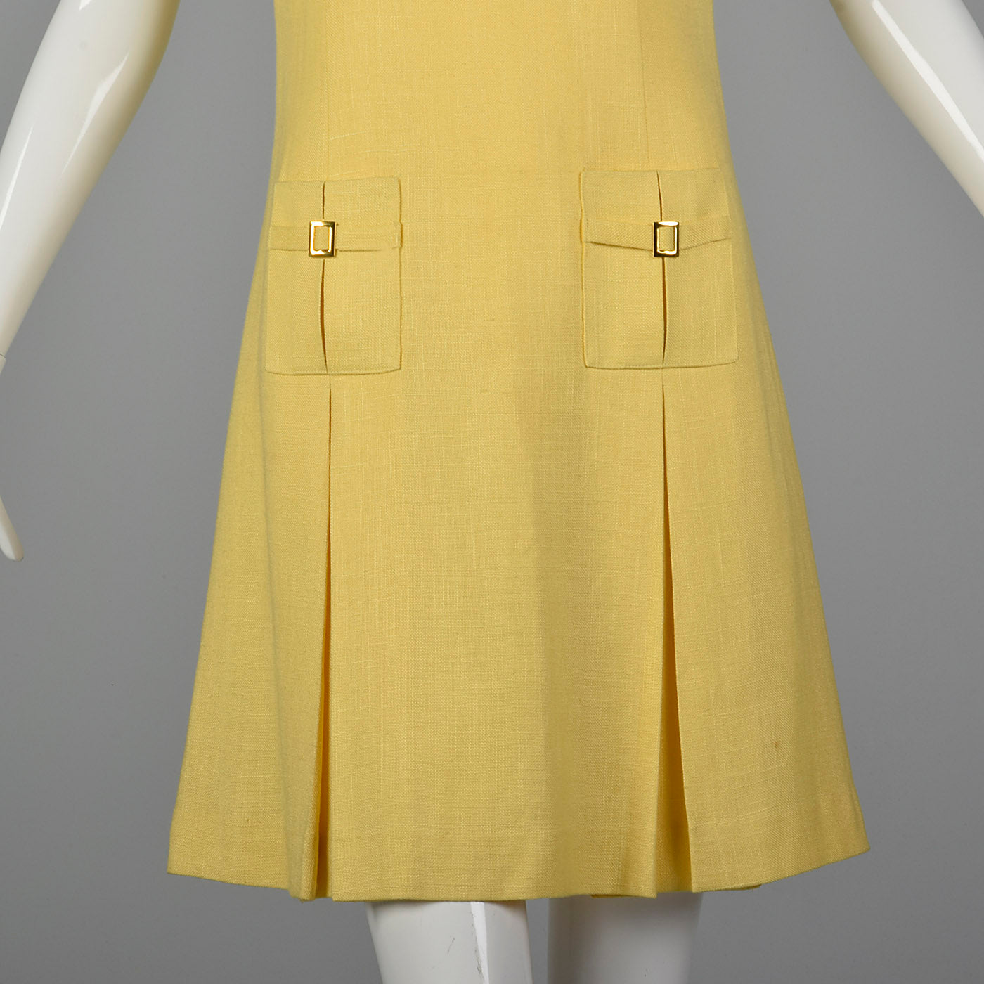 1960s Mod Shift Dress in Yellow