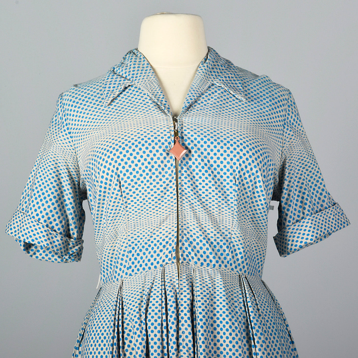 1950s Op Art Print Dot Dress