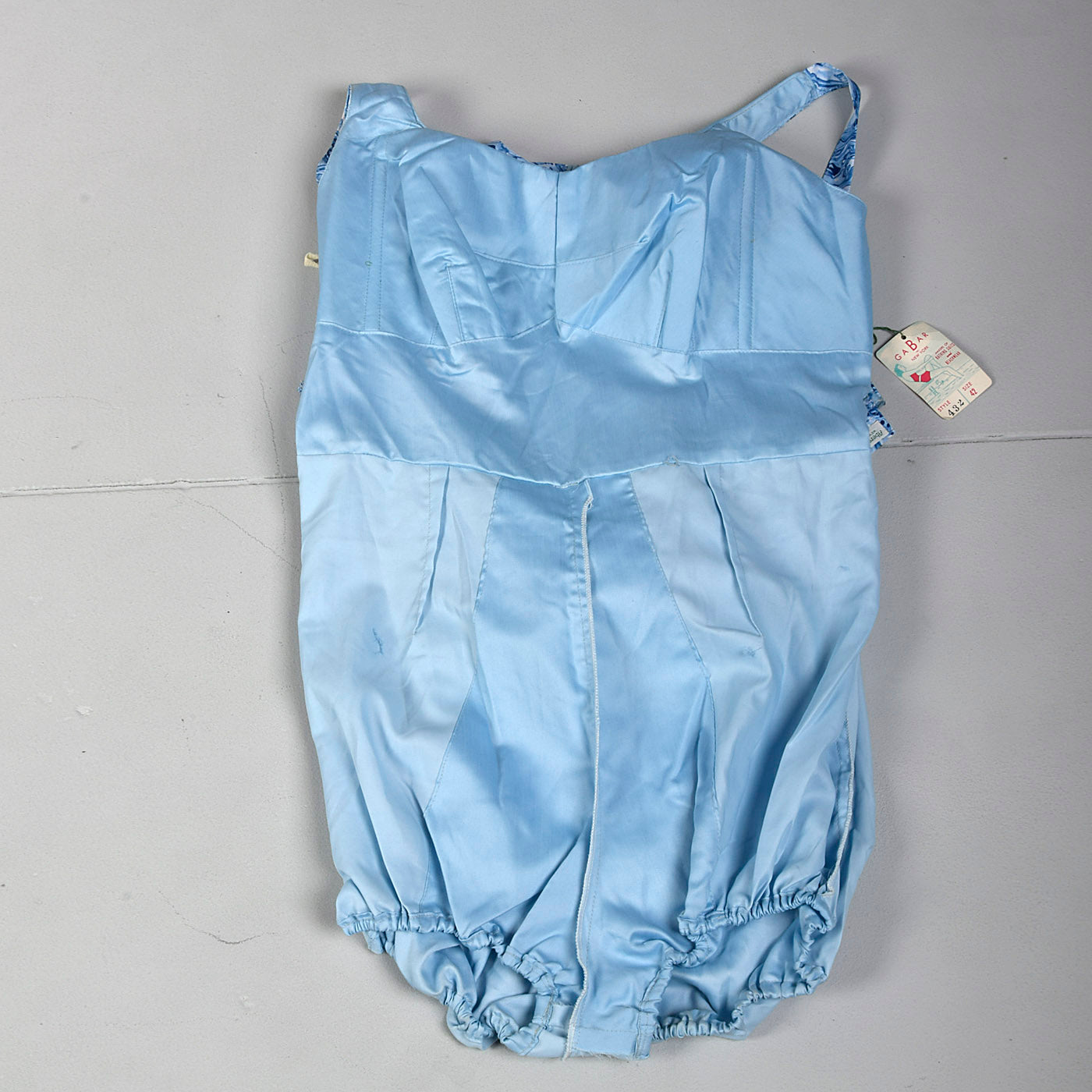 1960s Abercrombie & Fitch Deadstock Swim Romper with Cover-Up