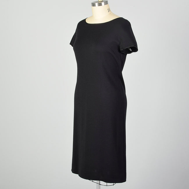 XL 1960s Black Shift Dress