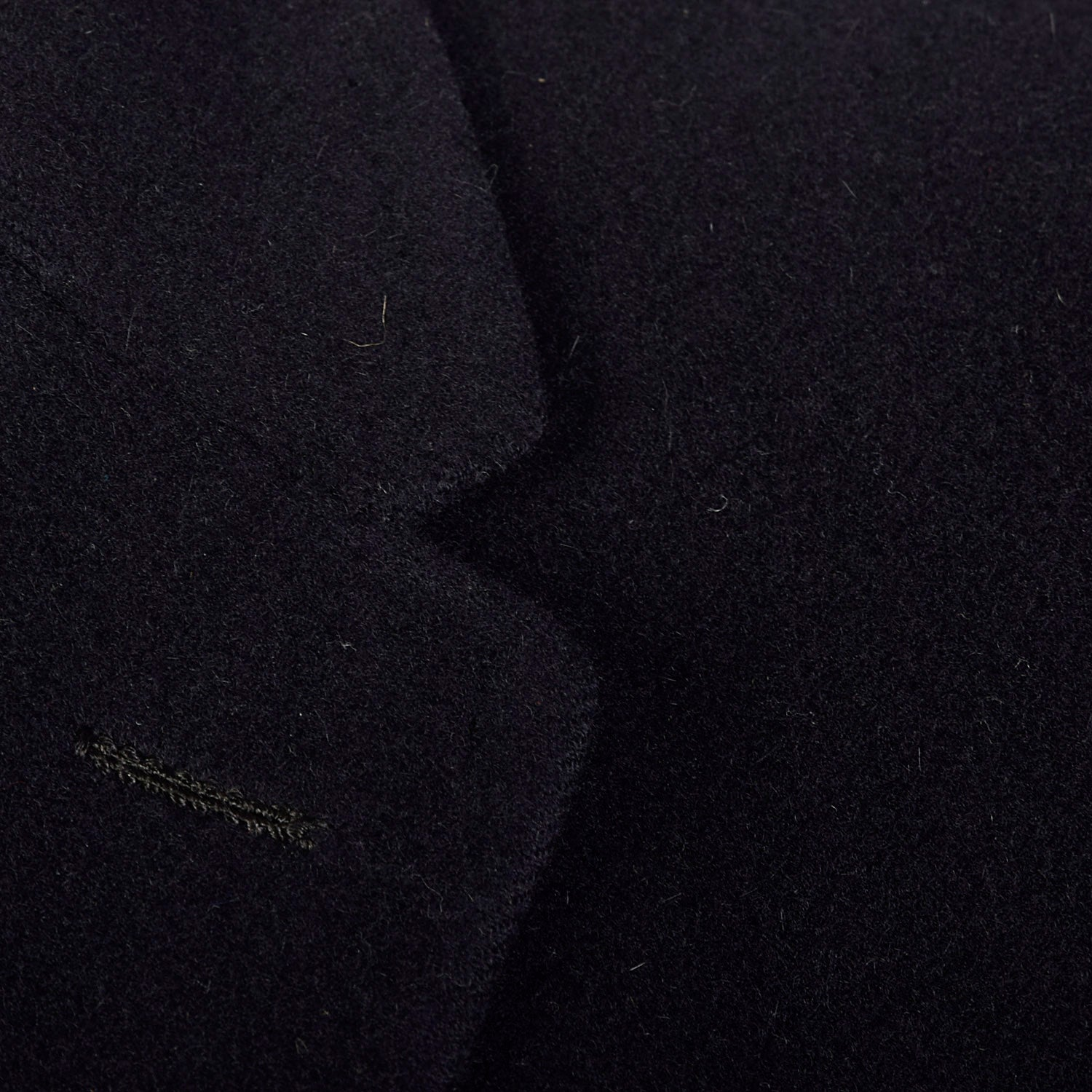 42 Large 1950s Mens Black Cashmere Overcoat