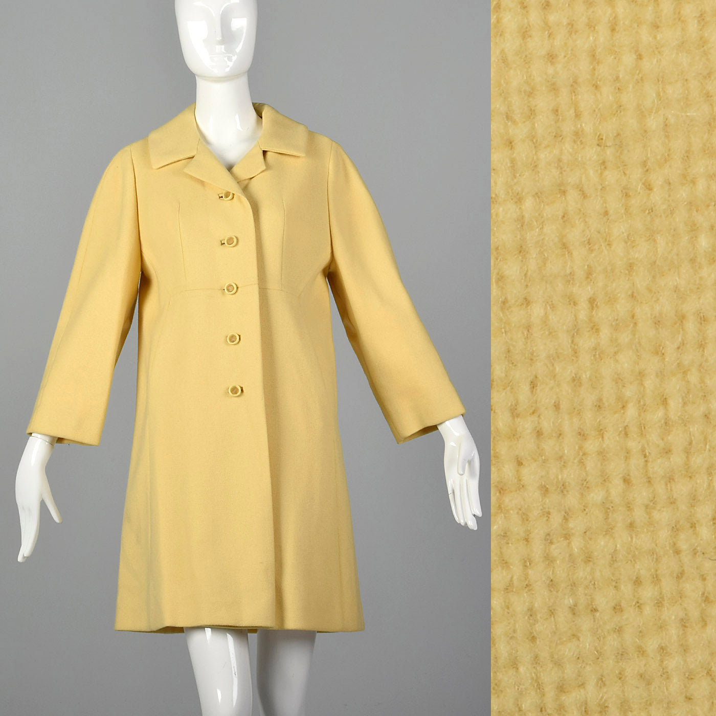 1960s Mod Yellow Spring Coat