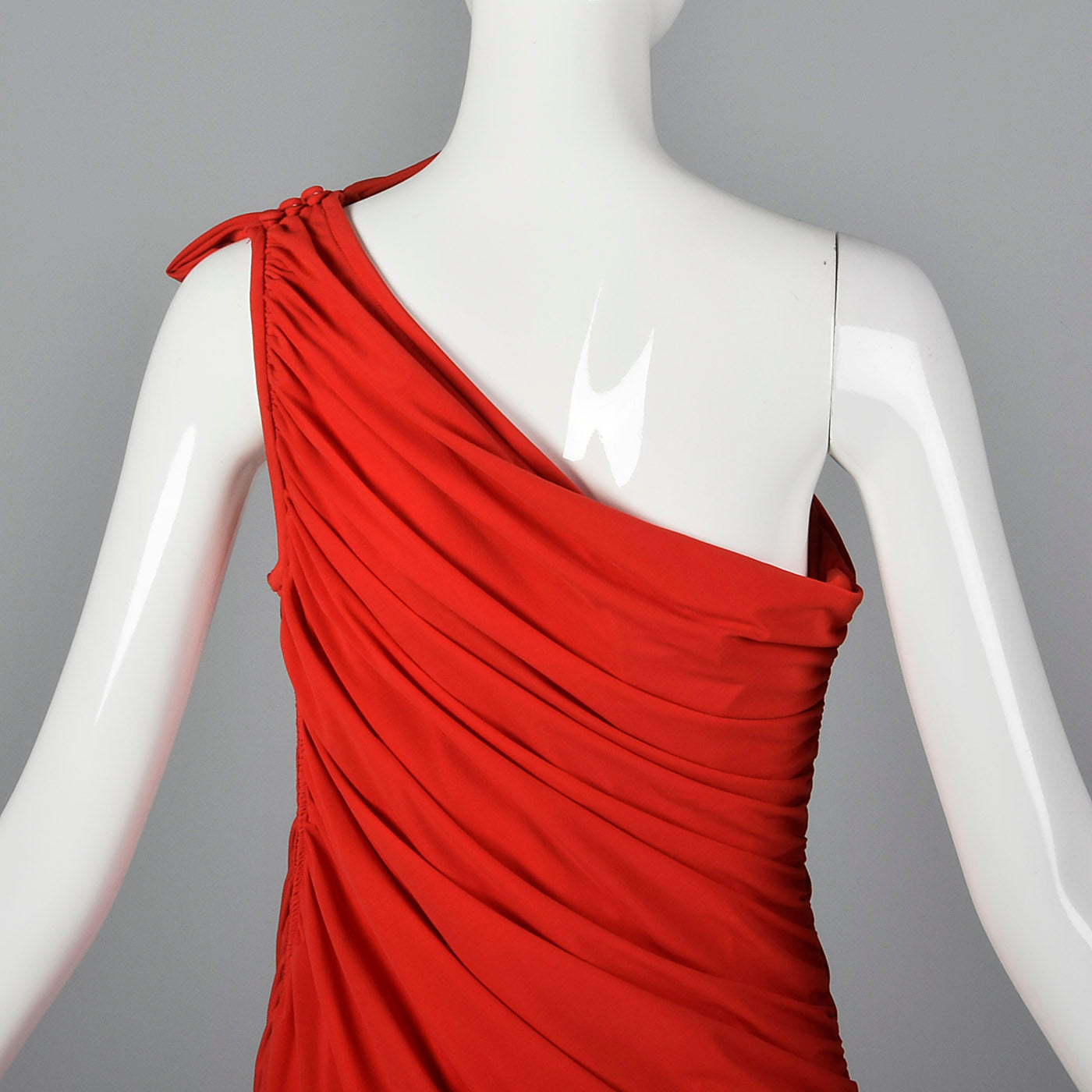 1980s Saks Fifth Avenue Red Bias Cut Dress