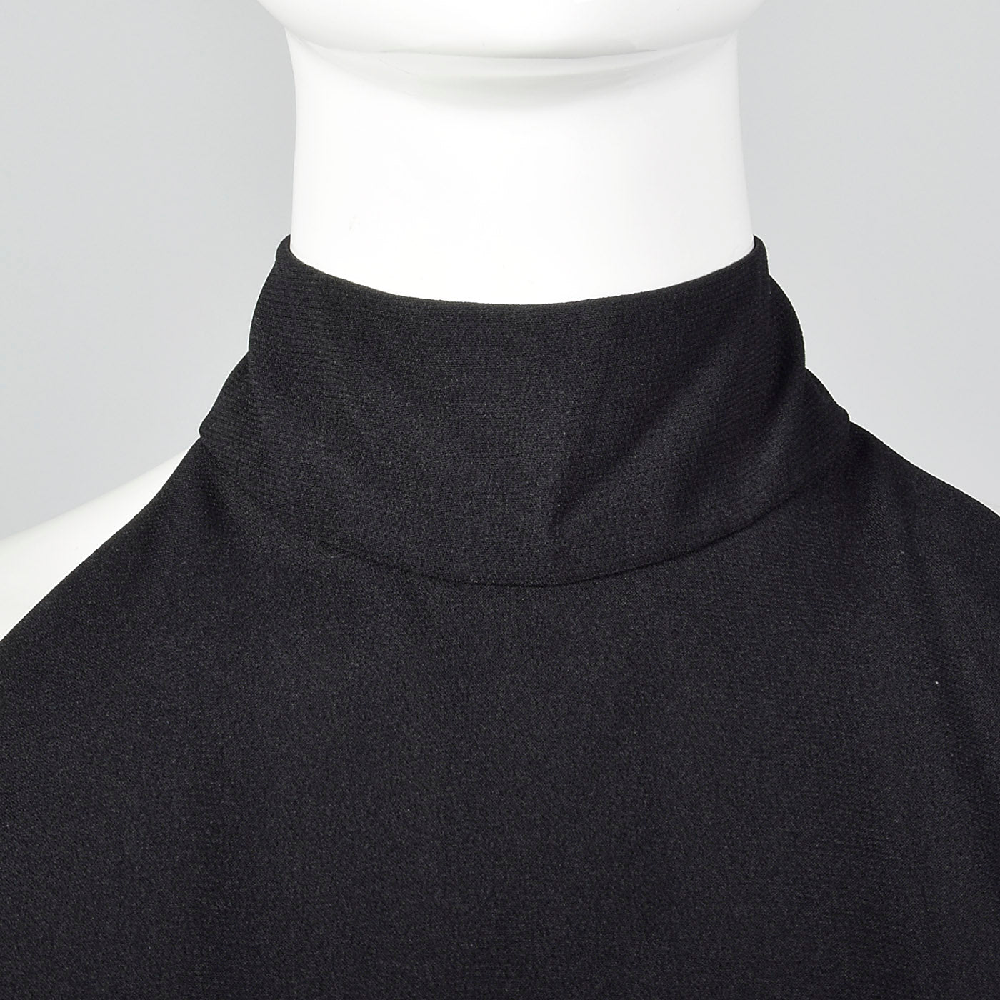 1980s Victor Costa Black Halter Dress