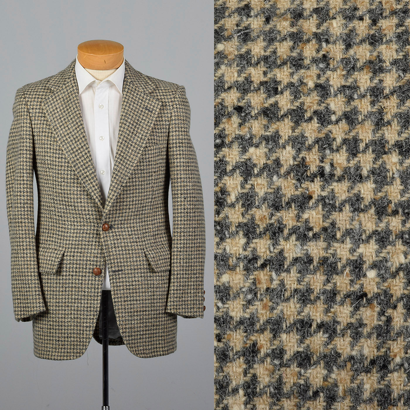 1970s Donegal Tweed Gray Jacket