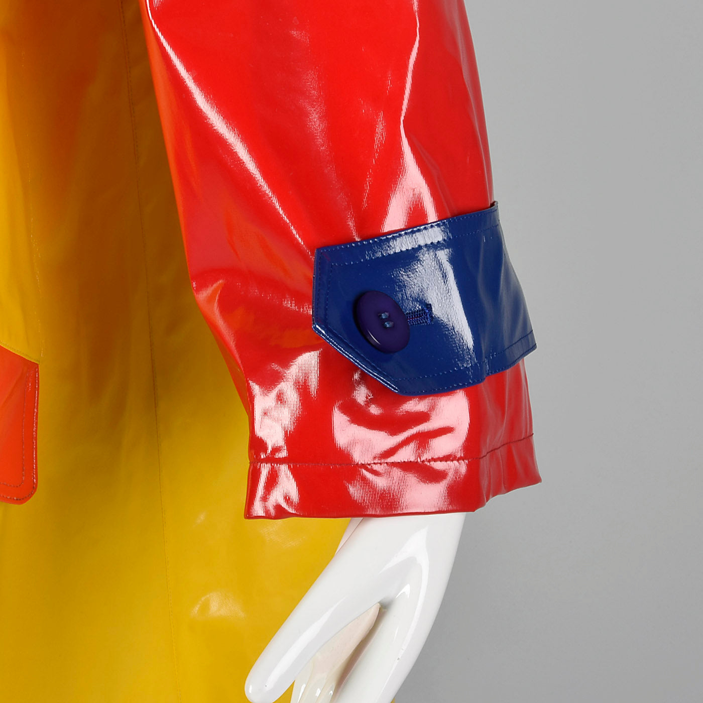 1980s Bill Blass Color Block Raincoat