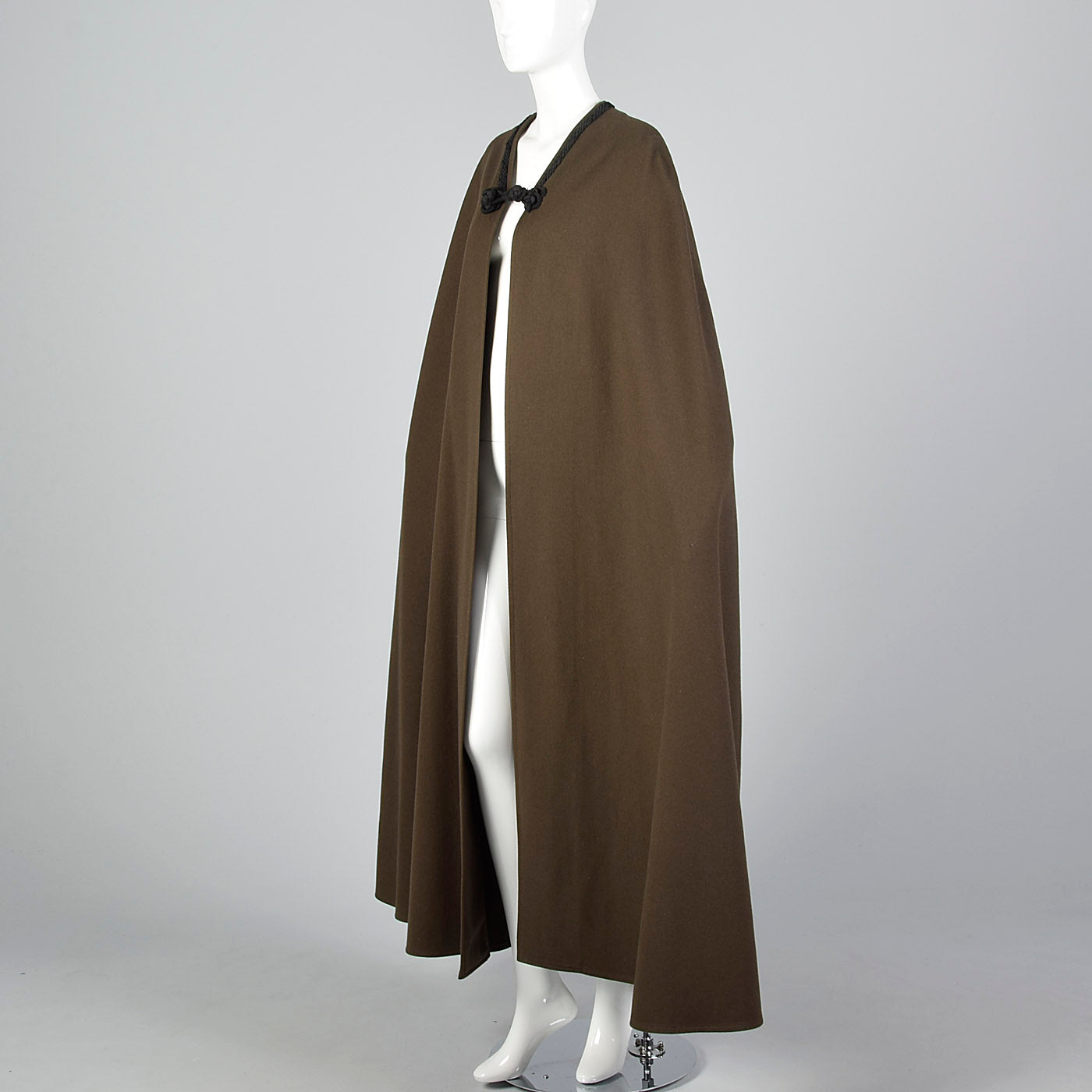 Elegant 1976 Yves Saint Laurent Russian Collection Wool Cape with a Huge Sweep