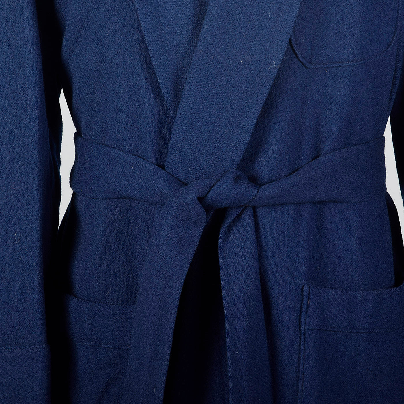 1950s Mens Pendleton Blue Wool Robe