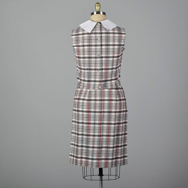 1960s Deadstock Plaid Blouse and Skirt Set