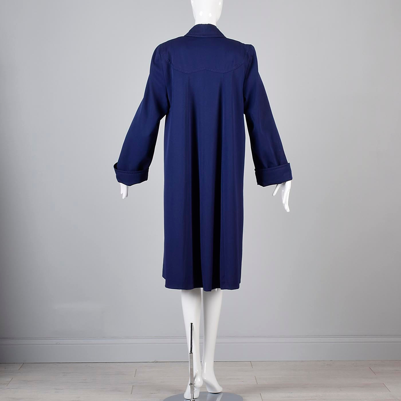 1940s Navy Coat with Lucite Button