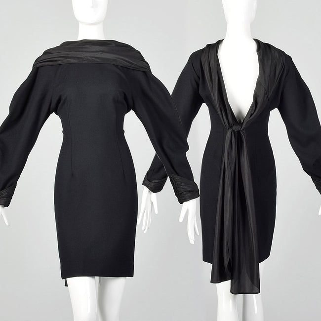 Small Borboglio Cristina Jan 1990s Black Dress
