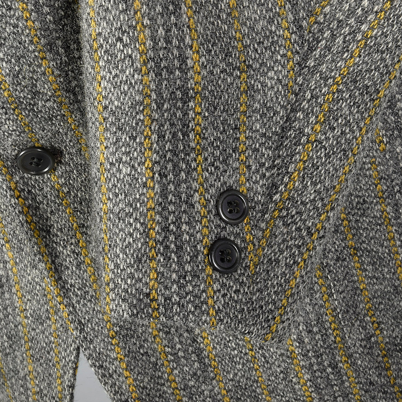 1970s Mens Brooks Brothers Bespoke Gray Tweed Jacket