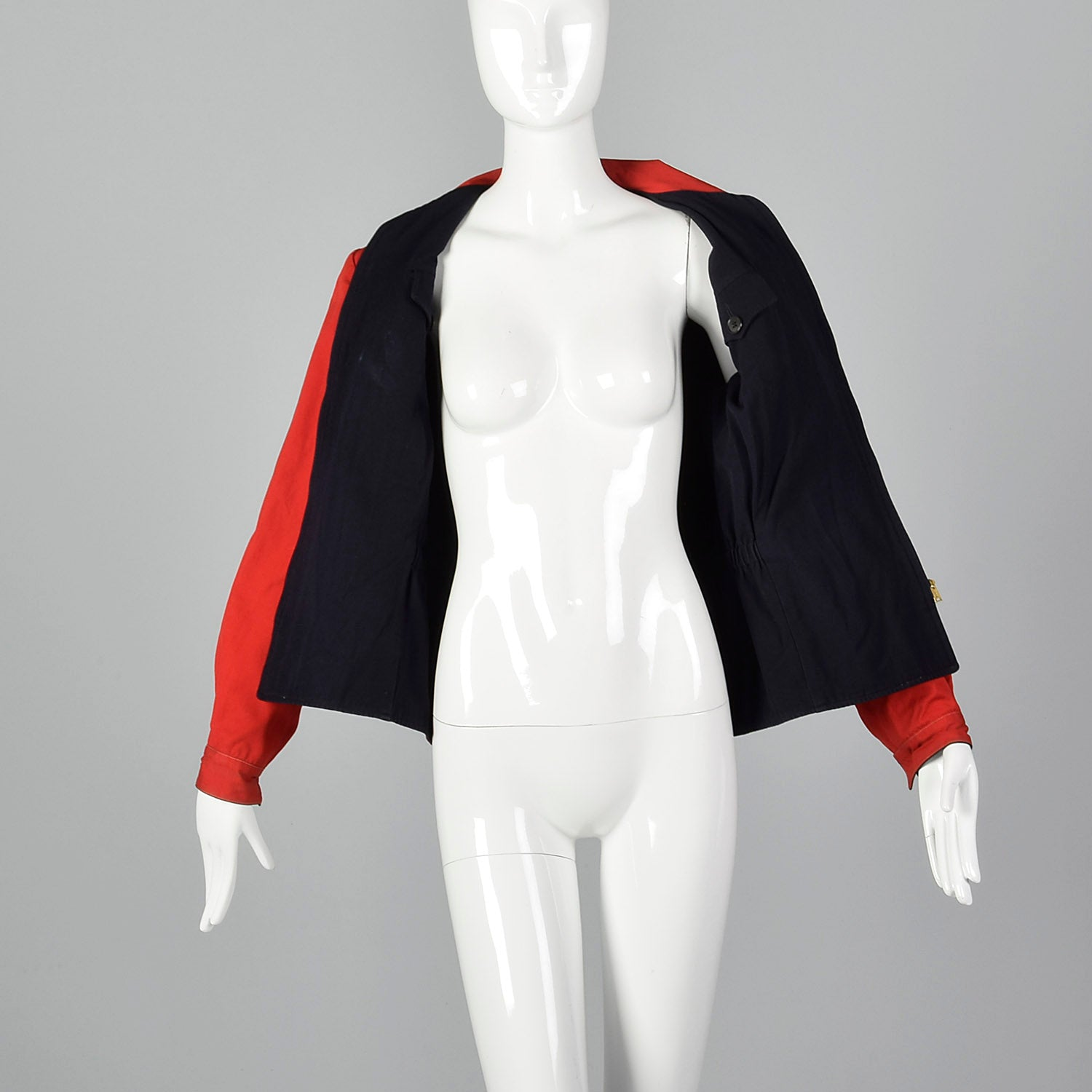 1950s Red and Navy Reversible Jacket with Pockets