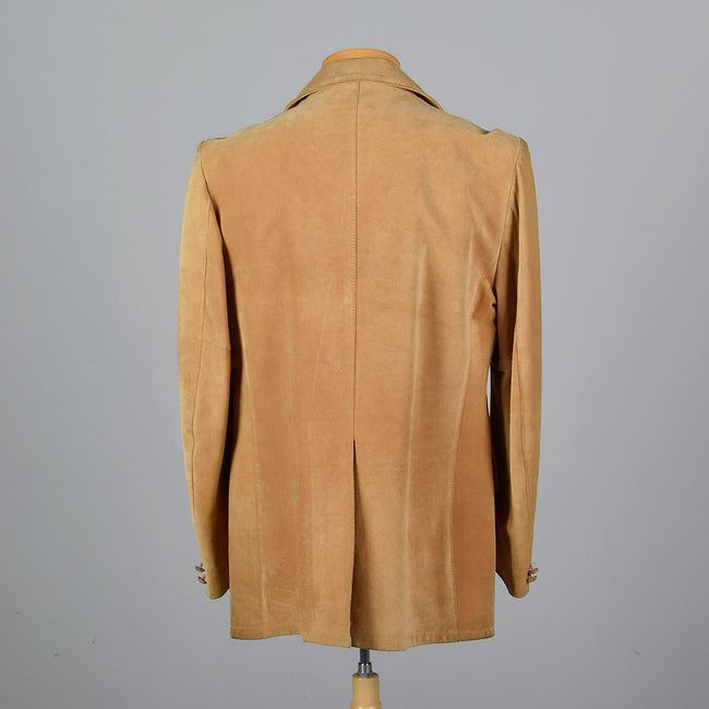 1970s Mens Brown Suede Blazer