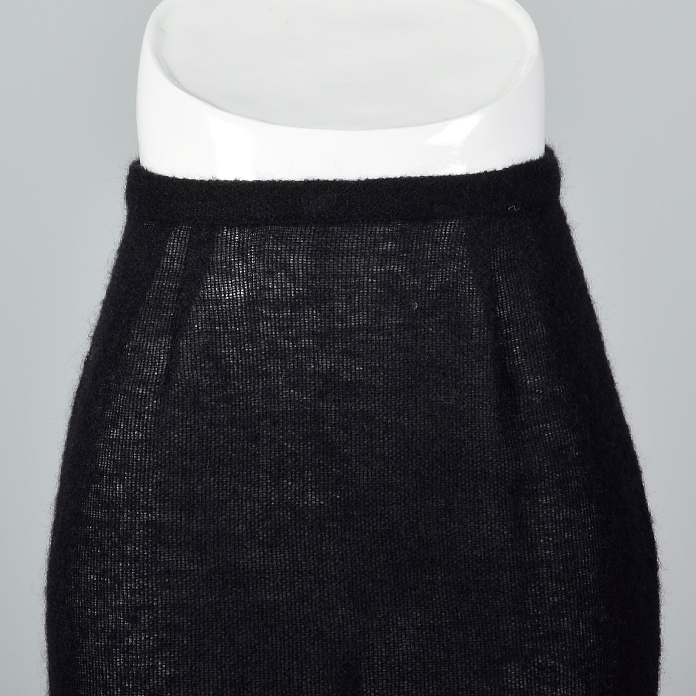 1990s Sheer Knit Wool Pencil Skirt