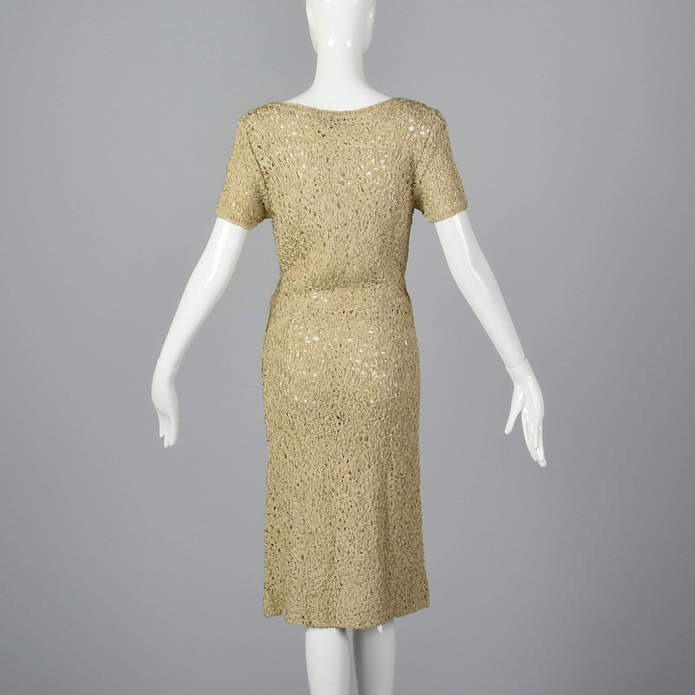 1960s Sheer Summer Ribbon Dress