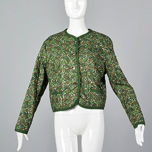 1960s Quilted Cotton Jacket in a Floral Print