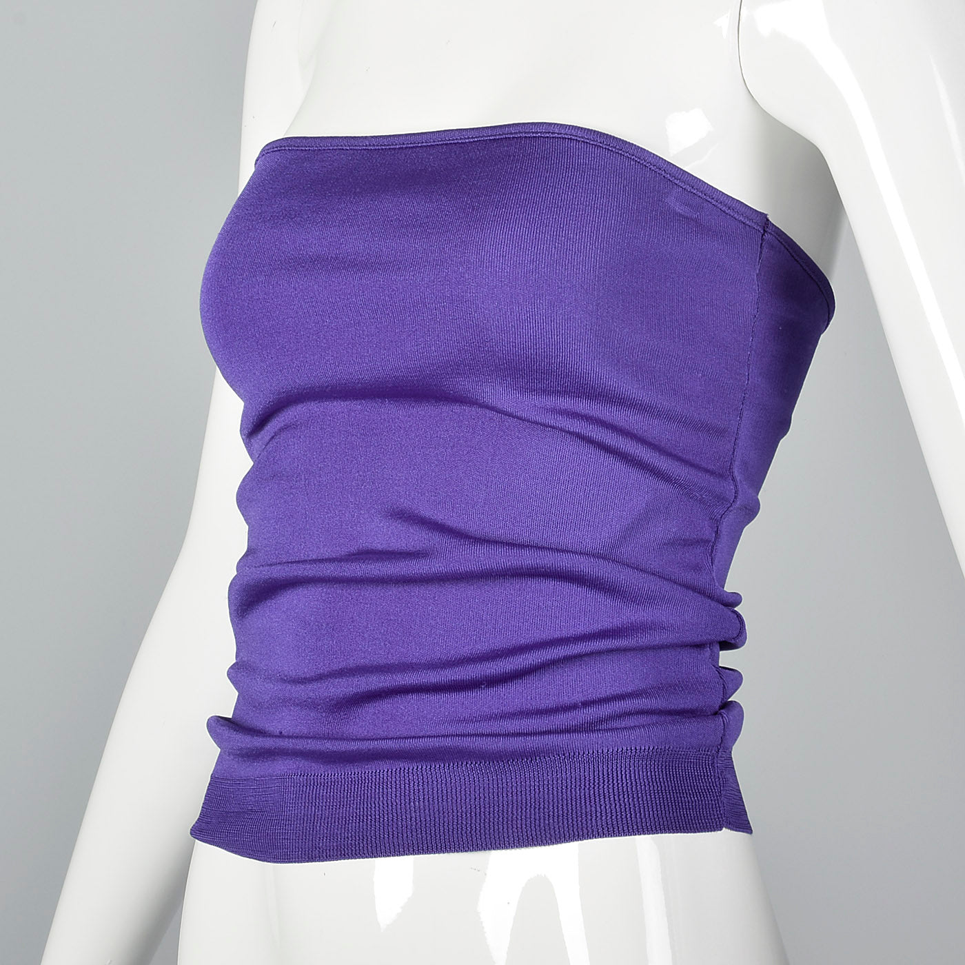 1970s Anne Klein Purple Tube Top